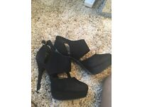 New look classy black heels size 5 great condition