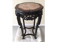 Fine Antique Chinese Hardwood Pedestal Table Height 81.28 cm, Diameter 43.18 cm