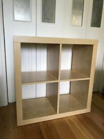 Ikea Expedit shelving with inserts