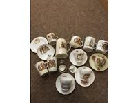 Mugs cups and saucers