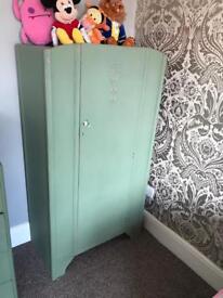 Small vintage children's wardrobe/nursery furniture