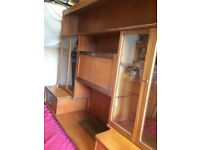 Teak Nathan Wall Unit Free to Collect