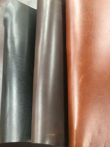 American LATIGO Cow Hide Leather 9-10 oz (3.6-4MM) Black Brown Pre-cut Half Hide