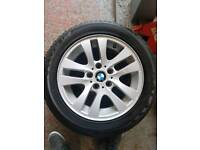 bmw alloys with new tyres