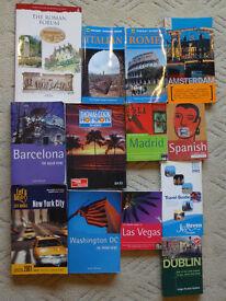 Lots of Travel Books inc. Rome, Dublin, Barcelona, Madrid, Dublin, Las Vegas, New York, Washington