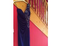 Brand new size 10 purple Lipsy formal dress , one shoulder with diamonte detail
