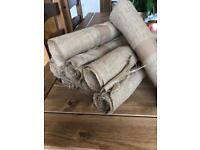 Hessian table runners x9