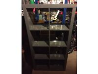 Ikea Expedit 2x4 shelving unit in Grey Gloss
