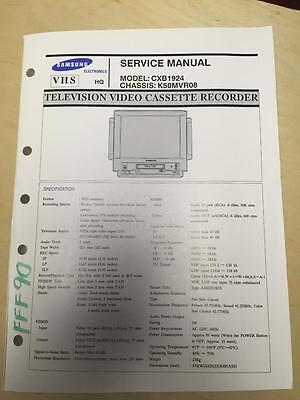 Samsung Service Manual for the CXB1924 TV VCR  mp Samsung Tv Service Manual