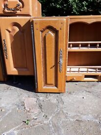 Solid wooden kitchen units - very good condition!