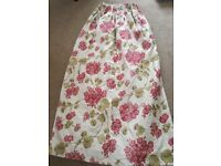 Dark pink floral, heavy,lined lounge/dining room curtains