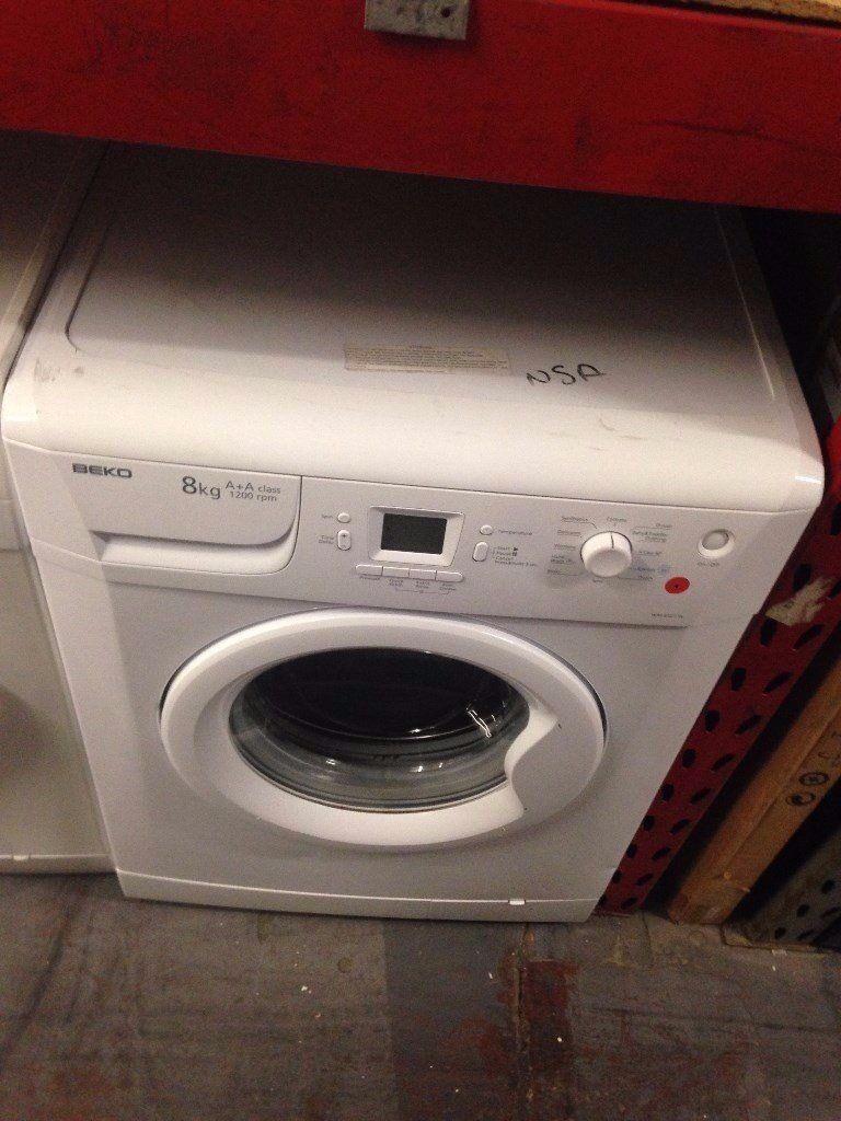 BEKO 8KG WASHING MACHINE WHITE RECONDITIONED
