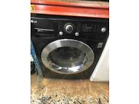LG black washing dryer 9kg