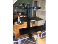 Ergotron WorkFit-S, Dual Monitor with Worksurface+ Standing Office Desk