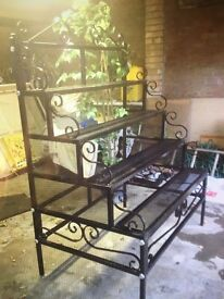 Rought Iron display stand
