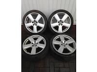 Audi A4 Sline 18 inch Alloy wheels ( Geniune )