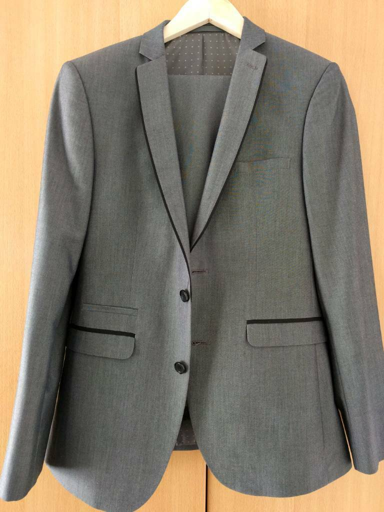 Grey Prom Suit: Slim Fit 38R Jacket, Slim Fit 32R Trousers | in ...