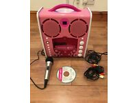 Singing Machine SML-383 Portable CD-G Karaoke Player and 1 disk - Pink