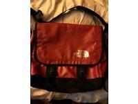 Genuine north face messenger bag red