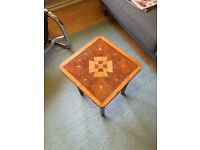 18th C WALNUT INLAY COFFEE TABLE WITH SECRET COMPARTMENT