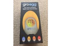 GRO EGG Colour changing digital room thermometer - good condition in box