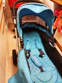 ISafe Ocean Blue 3 In 1 Travel System