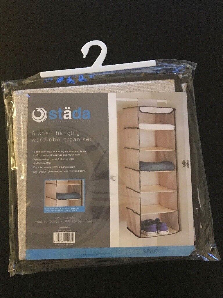 6 Shelf Hanging Wardrobe Organiser (Brand New)