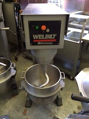 Varimixer W60 - 60 Quart Mixer With Stainless Steel Bowl And Hook - Refurbished