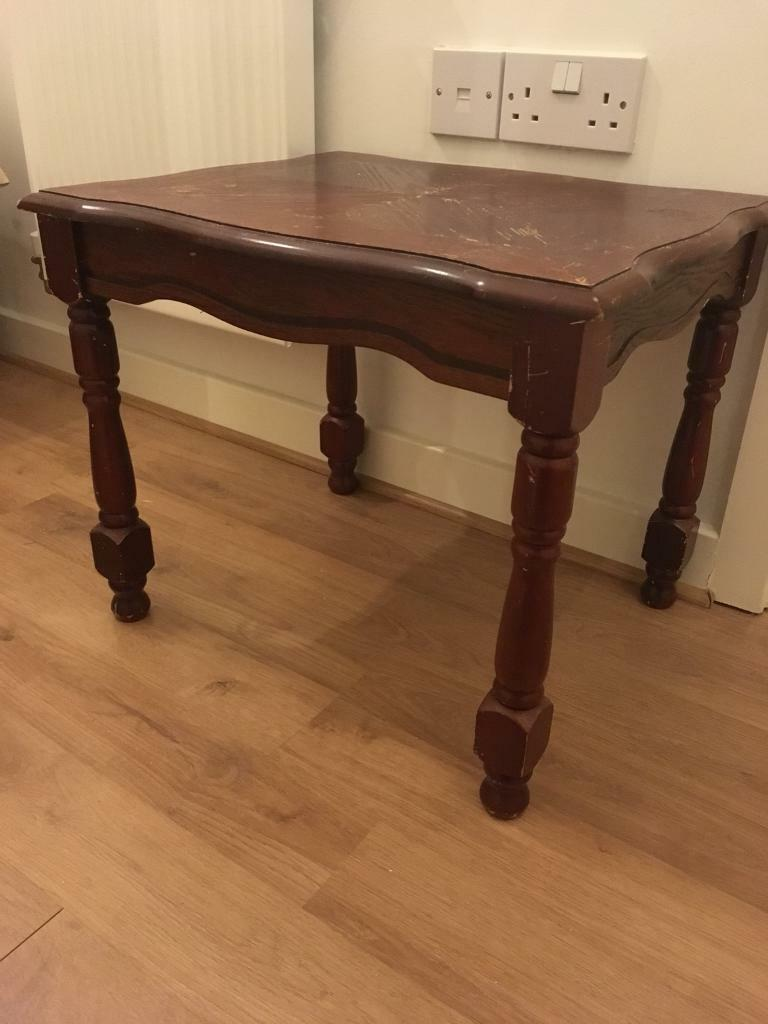 Dark Wood Vintage Coffee Table In Chichester West