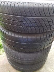 Wheel and tyres on sale