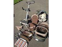 Stokke Xplory 4 Pram, Stroller seat, IziGo Car seat, and other parts