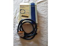 HITACHI PREMIUM SCART CABLE 1.5M OXYGEN FREE CABLE GOLD CONNECTORS