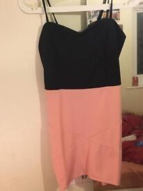 Pink and black dress size 10