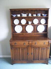 Linenfold Welsh dresser