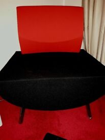 Large red and black chair