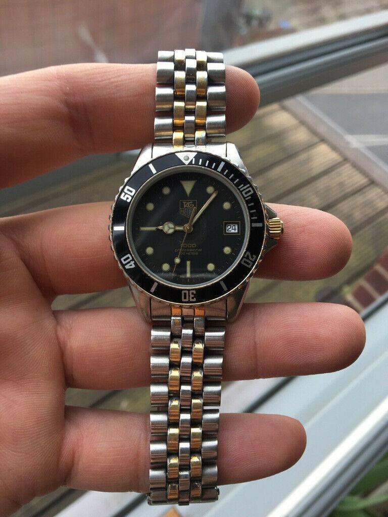 "best website ed710 2b48f Vintage Tag Heuer 1000 Professional Men's Watch ""Wolf Of Wall St"" 980.020B  | in Croydon, London | Gumtree"