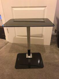 Black Glass Laptop Table