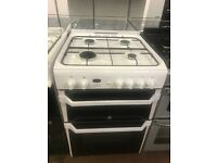 60CM WHITE INDESIT GAS COOKER