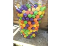 Large bag of soft play balls for a play pit