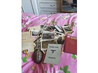 Ww1 and ww2 military items job lot. Antique