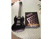 Vintage electric guitar & Vox amp