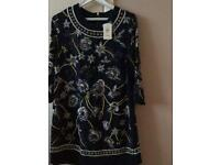 Ladies size 12 sequinned dress/top