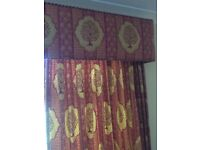 Quality fully Lined Curtains and Tiebacks
