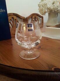 2 brand new Gleneagles Crystal brandy glasses