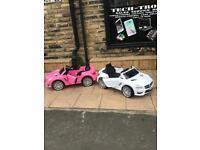 Mercedes SL63 Ride-on Pink Or White, 12v, Parental Remote & Self Drive