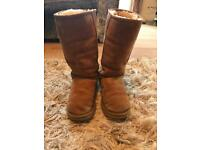Genuine tall uggs, size 5