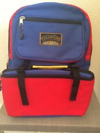 Brand New Childs Rucksack with Detachable Lunchpack