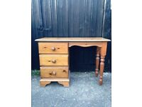 solid pine dressing table chest of drawers