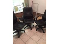 Three office chairs for sale £45