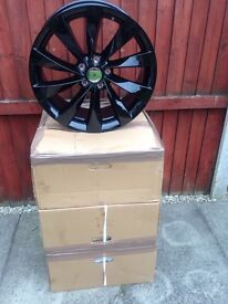 Alloy wheels 18 inch gloss black scirocco and audi